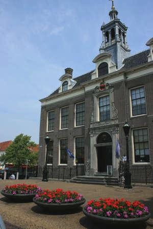 marken: historic city of edam in north of holland Stock Photo