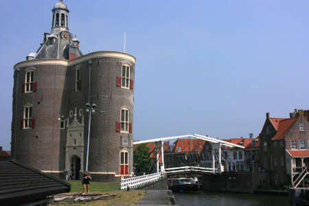 historic town of enkhuizen at north of holland photo