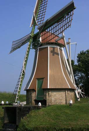 Beautiful scenery at herritage village of enkhuizen, holland photo