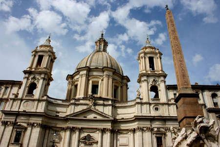 amphitheatre: Rome - Church at the Navona square