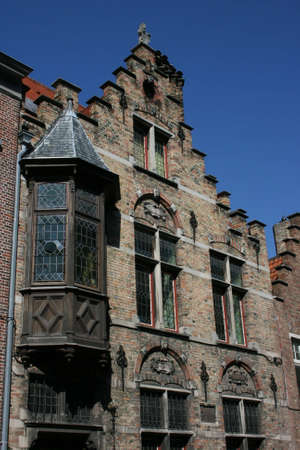 typical houses in Brugge, Belgium  photo