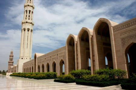 Sultan Qaboos Grand Mosque, Muscat, Oman Stock Photo