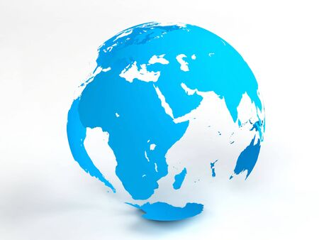 opacity: Blue opacity globe with soft shadows