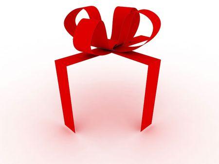 red gift ribbon photo