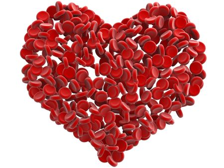 vasos sanguineos: gl�bulos rojos de la sangre del coraz�n