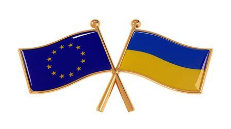 Golden Badge of Friendship European Union and Ukraine Banco de Imagens