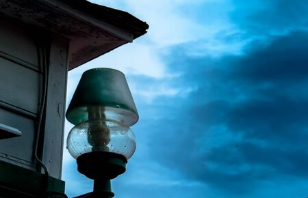 Lamp with blue sky