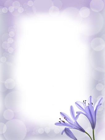 Fower Fantasy Hintergrund für die Karte Standard-Bild - 78391443
