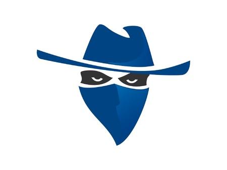 Blauwe bandiet Vector Illustratie