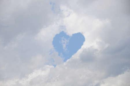 cloud heart  Stock Photo