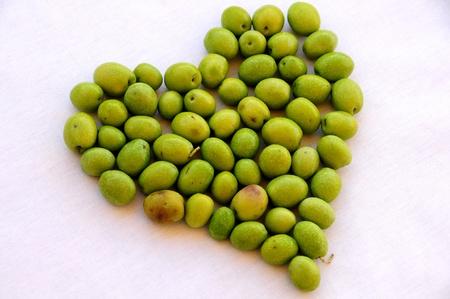 healty: olive heart  Stock Photo