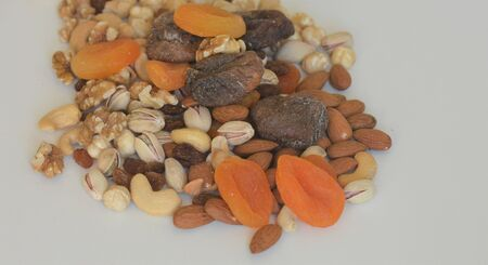 dried fruits and dried nuts Stock Photo