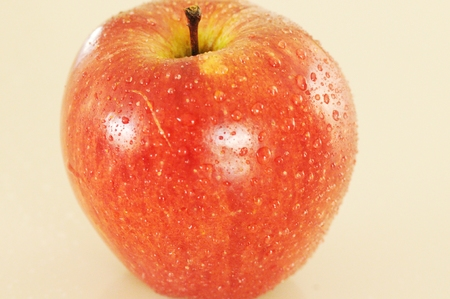 isolated red apple Stock Photo