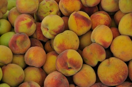 isolated peaches Stock Photo