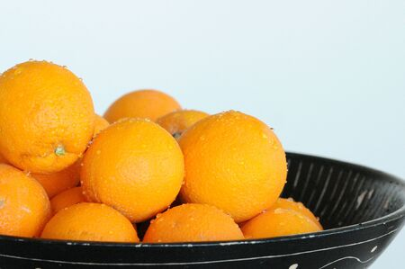 isolated oranges