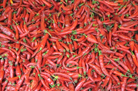 Background with red chilies