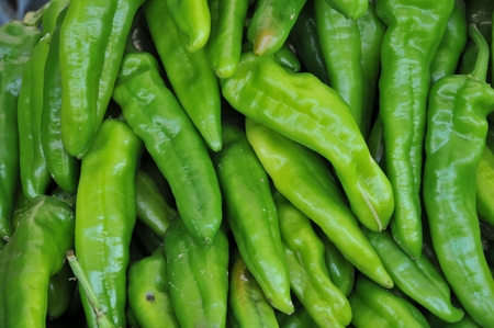 background with green chilies
