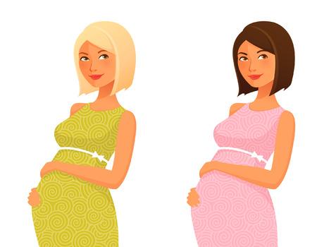 bonito: Ilustración de una hermosa mujer embarazada