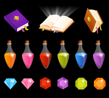 gemstones: set of cute illustrations with magic theme Illustration