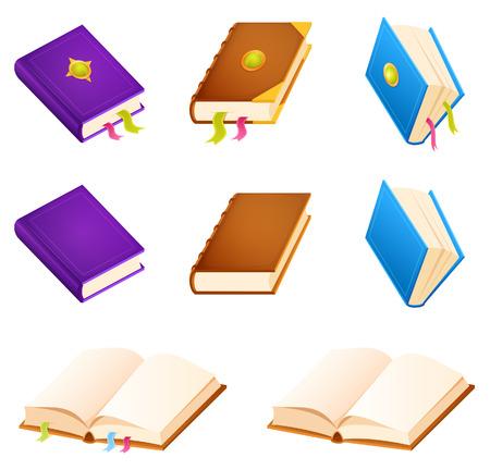 簡単な本のイラストのセット
