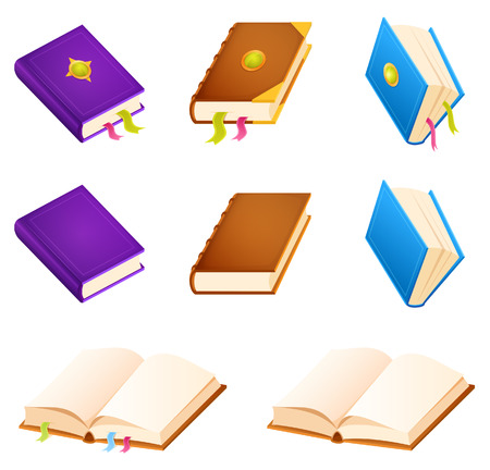 set of simple book illustrations Illusztráció