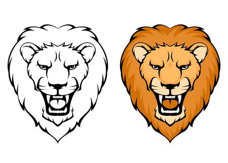 jednoduché ilustrace lví hlavou