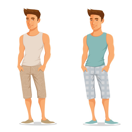 handsome young guy in casual summer outfit