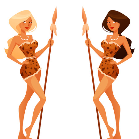 Sexy cartoon cavewoman Standard-Bild - 43700559