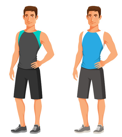 handsome young guy in fitness outfit