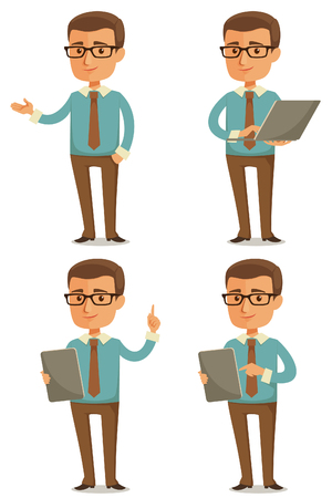 grappige cartoon zakenman