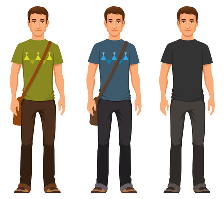 masculin: chico joven agradable en traje casual
