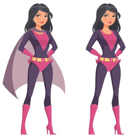 beautiful cartoon superwoman