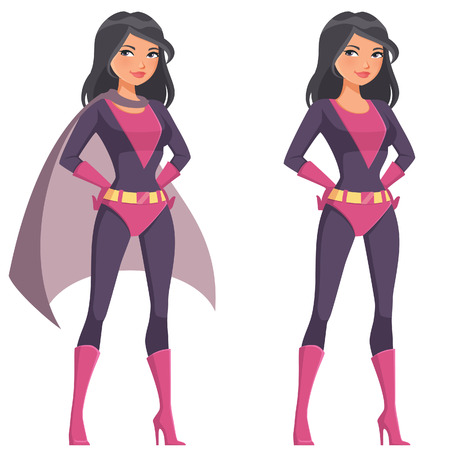 beautiful cartoon superwoman