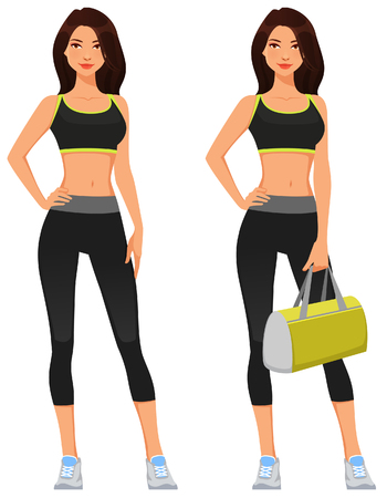 attractive young woman in fitness sportswear