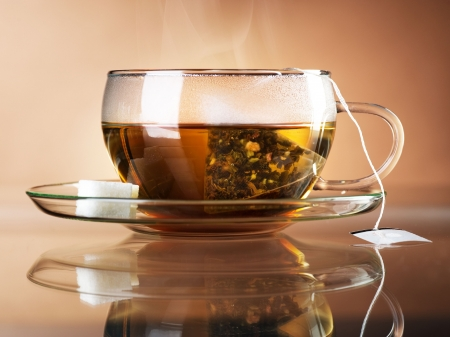steaming: Tea Stock Photo