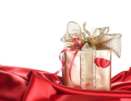 Valentine or Widding Gift.Isolated on white photo