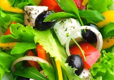 Gesunde Salat-Hintergrund