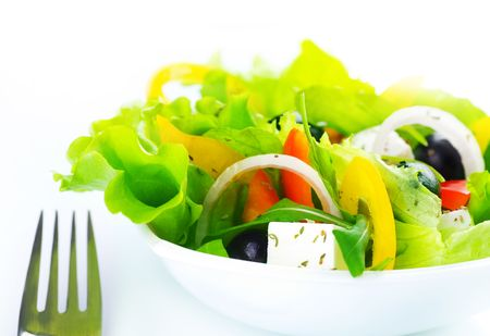Greek Salad close-up Stock Photo - 6462973