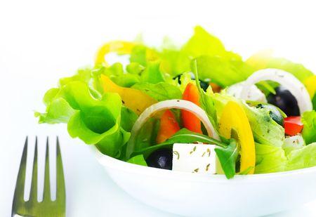 Greek Salad close-up Stock Photo - 6462973