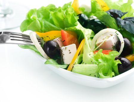 Healthy Greek Salad close-up photo