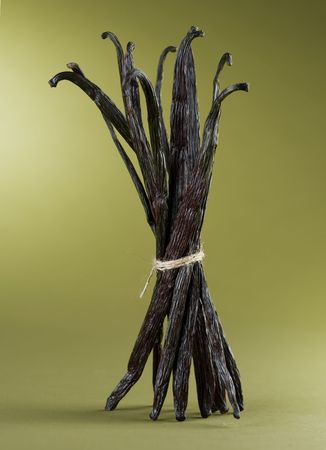 asian flavors: Bunch of Vanilla Beans Stock Photo