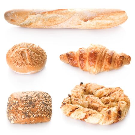 Bakery Bread collection.Isolated on white Stock Photo - 6463179