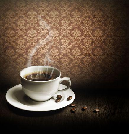 grano de caf�: Taza de caf�