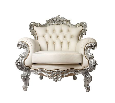 antique chair: Luxurious armchair Stock Photo