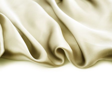 Natural Silk border.Isolated on white photo