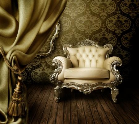 luxuri�se Old eingerichteten Interior  Lizenzfreie Bilder