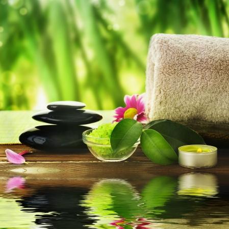 masaje:  Tratamiento de Spa Foto de archivo