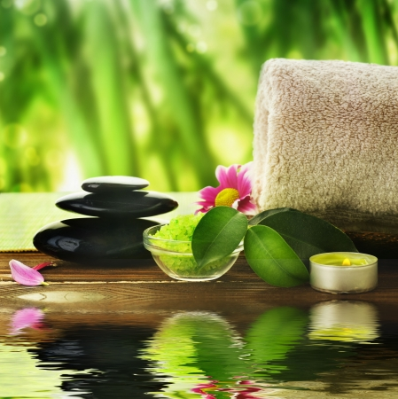 massaggio: Trattamento Spa  Archivio Fotografico