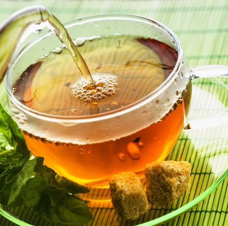 Pouring Tea Stock fotó
