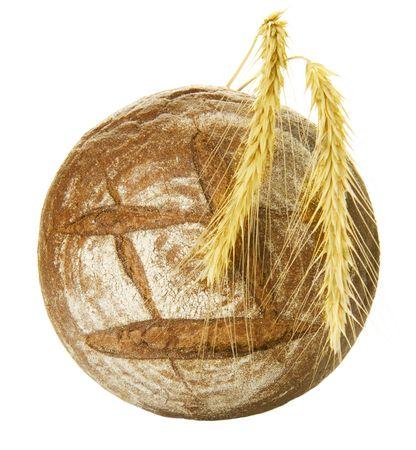 Bread on white photo